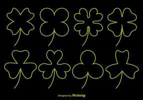 Neon Clover Vector Pictogrammen