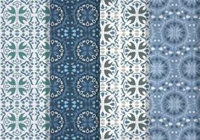 Blue Talavera Vector Patterns