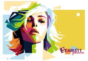 Scarlett Johansson Vector Retrato