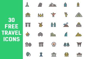 30 Free Travel Icon Vektoren