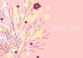 Papel pintado floral decorativo vector
