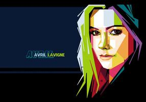 Avril Lavigne Vector Retrato