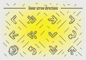 Vector libre de flechas lineales