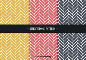 Stylish Herringbone Patterns Vector