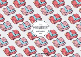 Retro Auto Vector Patroon Achtergrond