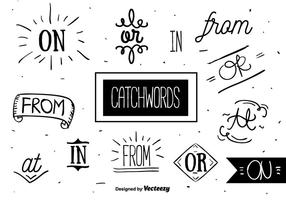 Catchwords Set Vector