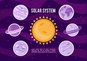 Solar System Vector Background