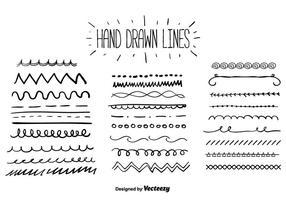 Handdragen linjer vektor
