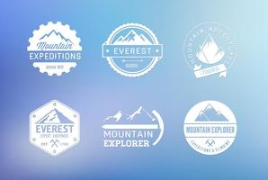 Mountain Vector Label Set