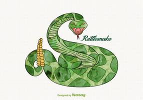 Gratis Vector Akvarell Rattlesnake