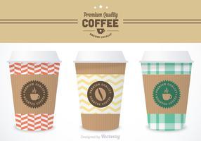 Modèles libres de vecteurs de manches de café