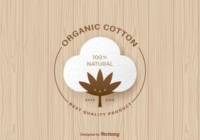 Free Organic Cotton Vector Label