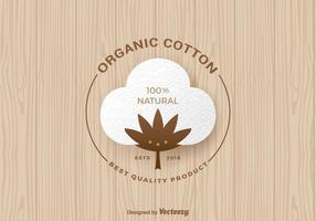 Etiqueta orgânica gratuita do vetor de algodão orgânico