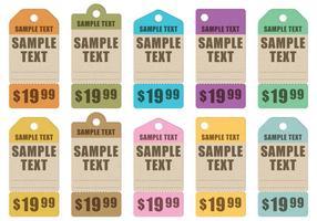 Vetores de etiquetas de cartão