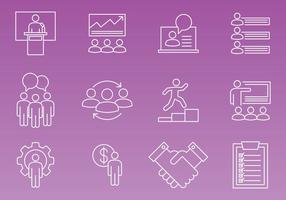 Vecteurs d'icônes d'entrepreneur