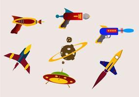 Galaktische Kampflasterpistolenvektoren