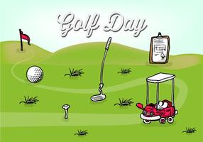 Golf Day Vector Illustration