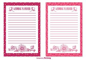 Cute Wedding Planner Set
