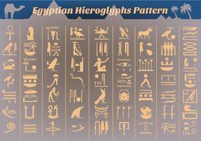 Vecteur gratuit des hiéroglyphes égyptiens anciens