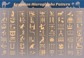 Ancient Egyptian Hieroglyphs Vector