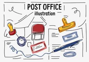 Icone di vettore dell'ufficio postale