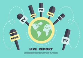Journalism Press Vector Backround
