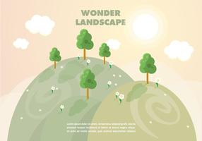 Free Wonder Landscape Vector Background