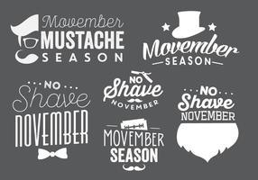 Vetores Typographic Movember
