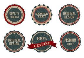 Libre Vector Vintage estilo insignias con Grunge erosionado