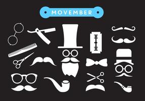 Movember Shave Vector Icons
