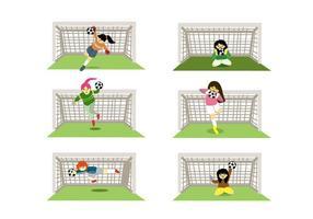 Vrouwelijke Goal Keepers Vector