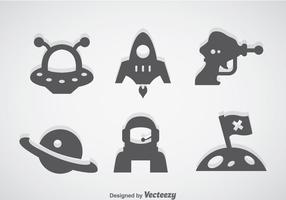 Fantasy Space Grau Icons