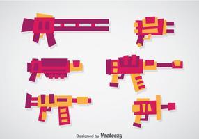 Laser pistol vektor uppsättningar