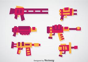 Set vettoriale di pistola laser