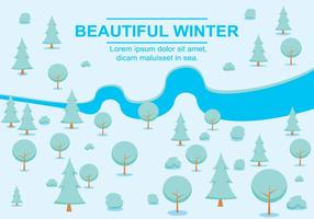 Free Vector Winter Landscape