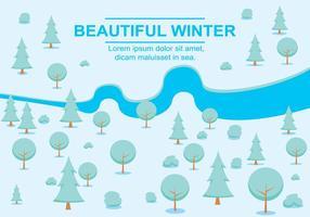 Free Vector Winter Landscape
