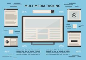 Free Multitasking Vektor Hintergrund