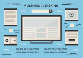 Sfondo vettoriale multitasking gratuito