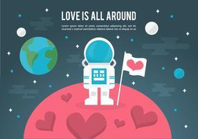 Vrije ruimte liefde vector illustratie