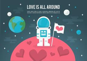 Space Love Vector Illustration