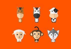 Nette Vektor Tiere