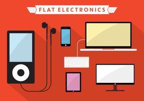 Flache Vektor-Elektronik