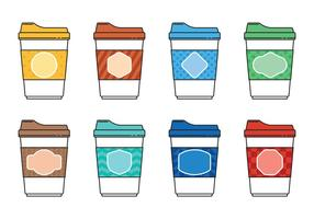 Kaffee Minimalistische Icon Vektoren