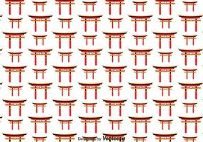 Japanese Torii Gate Seamless Pattern