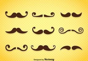 Vetor de ícones de bigodes