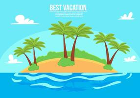 Free Vacation Vector Illustration