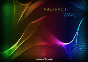 Abstract Swish Colorful Wave Vector