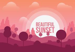 Vecteur de coucher de soleil magnifique gratuit