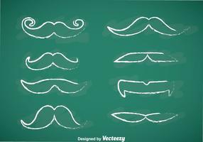Movember Schnurrbart Kreide Zeichnen Vektoren