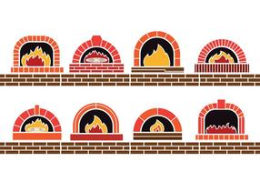 Pizza Oven Vectors